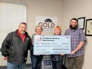 Freestate Corvette Club Donates To Worcester County GOLD
