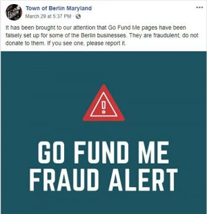 Alert Issued Over Fraudulent GoFundMe Pages