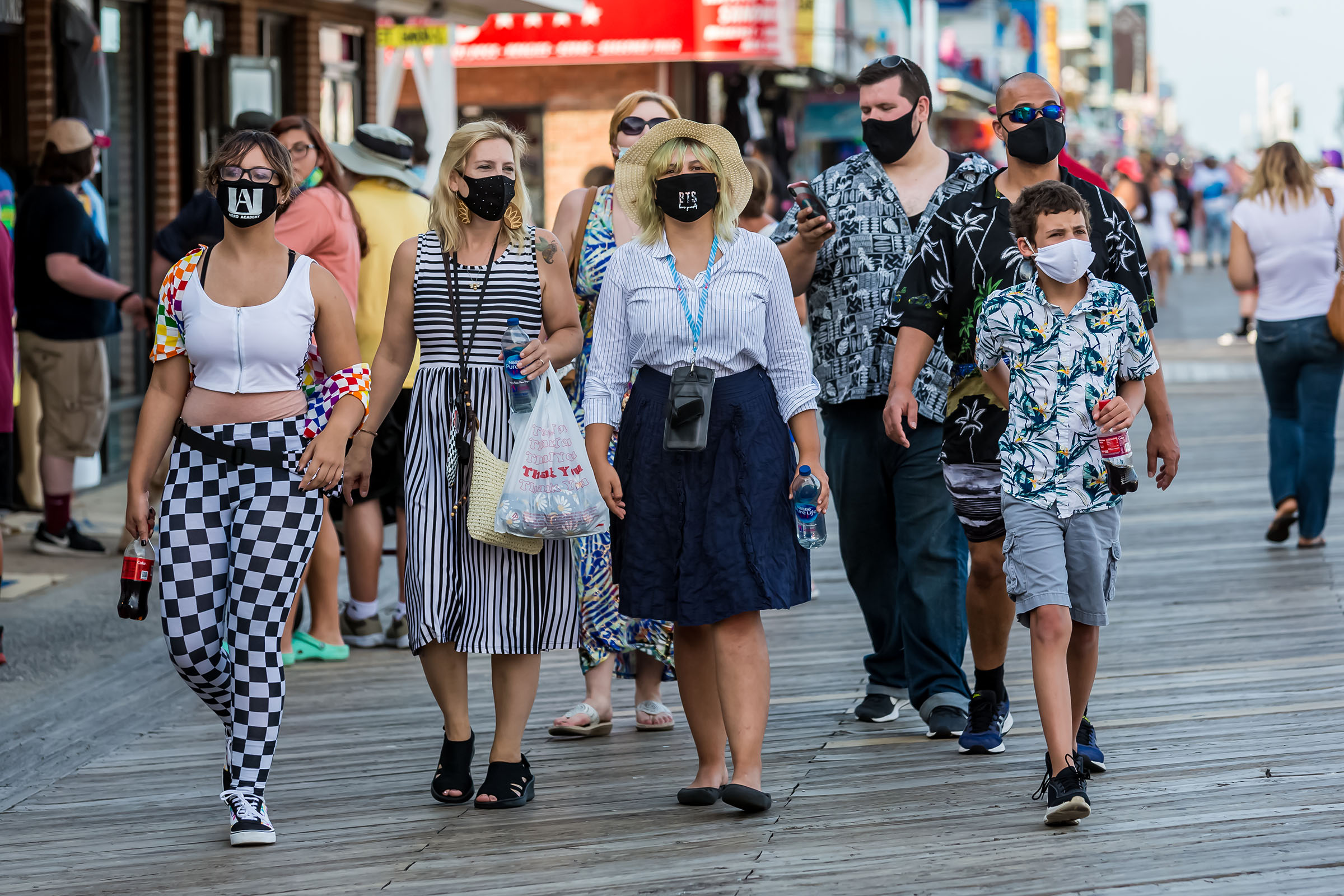 Council Votes 4-3 To Lift Boardwalk Mask Requirement In Ocean City