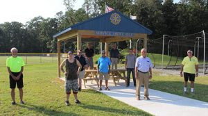 Salisbury Rotarians Donate And Construct Pavilions For Wicomico Little League Challenger Division Project 7 1/2