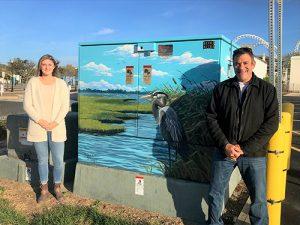 ALOC Artist Schlegel Paints Utility Box For OCDC Public Arts Program