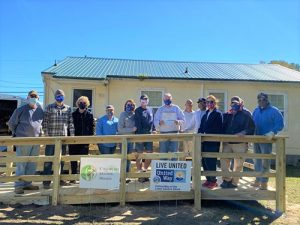 OC-Berlin Rotary Assist In Building Ramp For Chesapeake Housing Mission