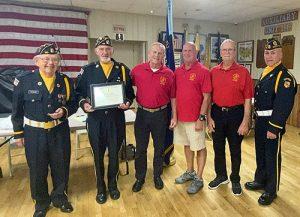 Marine Corps League Present Certificate Of Appreciation To OC American Legion