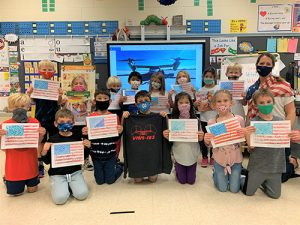 Ocean City Elementary 1st Graders From Ms. Coleman's Class Pen Thank You Letters To Marine Squadron To Honor Veterans Day
