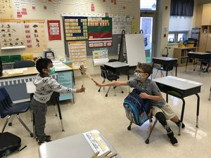 Ocean City Elementary Second Graders Give Cardboard High-Fives
