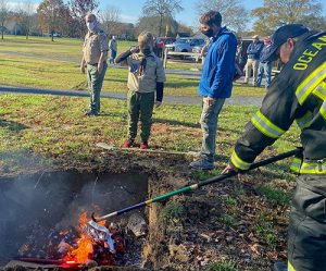 OC American Legion, Boy Scouts Conduct Ceremonial Burning Of Flags