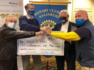 Salsibury Rotary Club Award First Place Raffle Winner $10,000