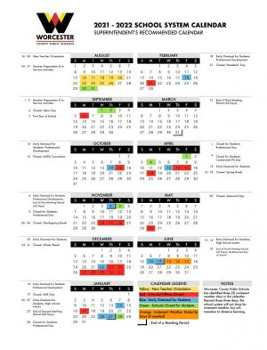 Early Release School Calendar Option Selected