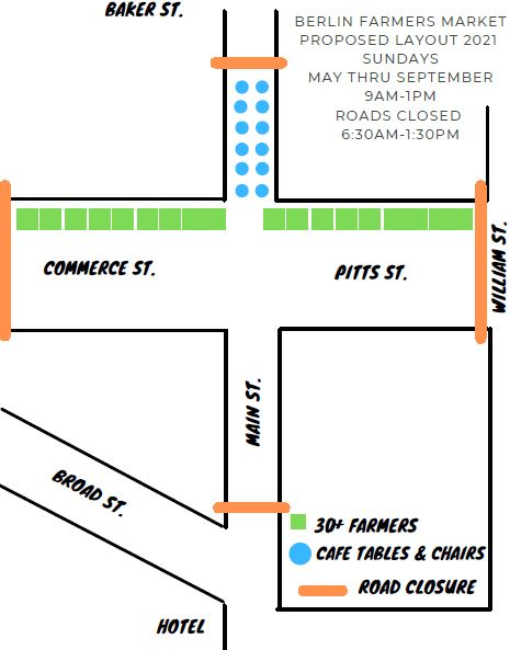 Berlin Eyes Sunday Street Closures For Farmers Market; State Highway Needs To Approve Weekly Move
