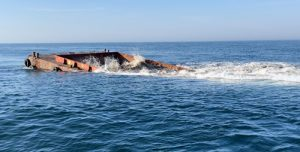 200-Foot Barge Sunk To Grow Offshore Artificial Reef System