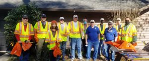 OC Lions Does Trash Pickup On Route 611