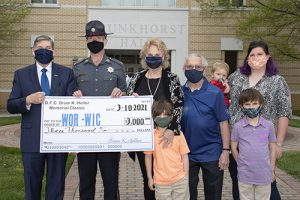 Family Of Deputy Sheriff Heller Present Memorial Scholarship Fund To Wor-Wic Community College