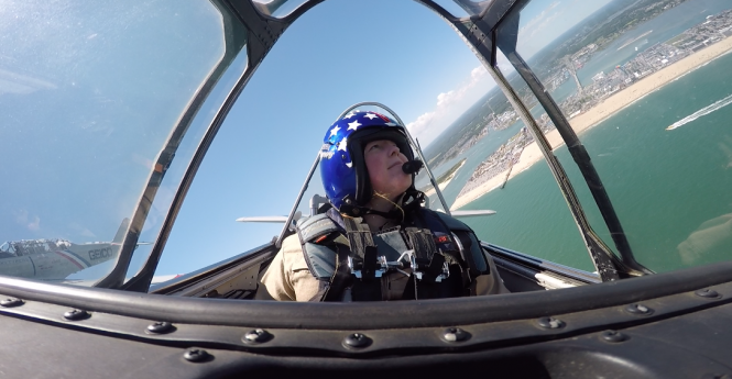 Flying With The GEICO Skytypers Over Ocean City