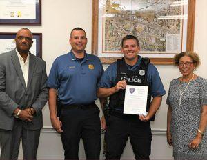 Salisbury University Police Award Life-Saving Award To One Of Their Officers