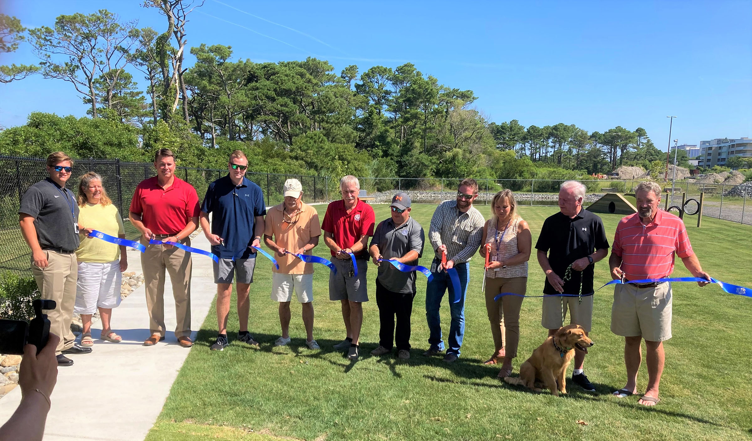 Ocean City's expanded dog park has officially opened