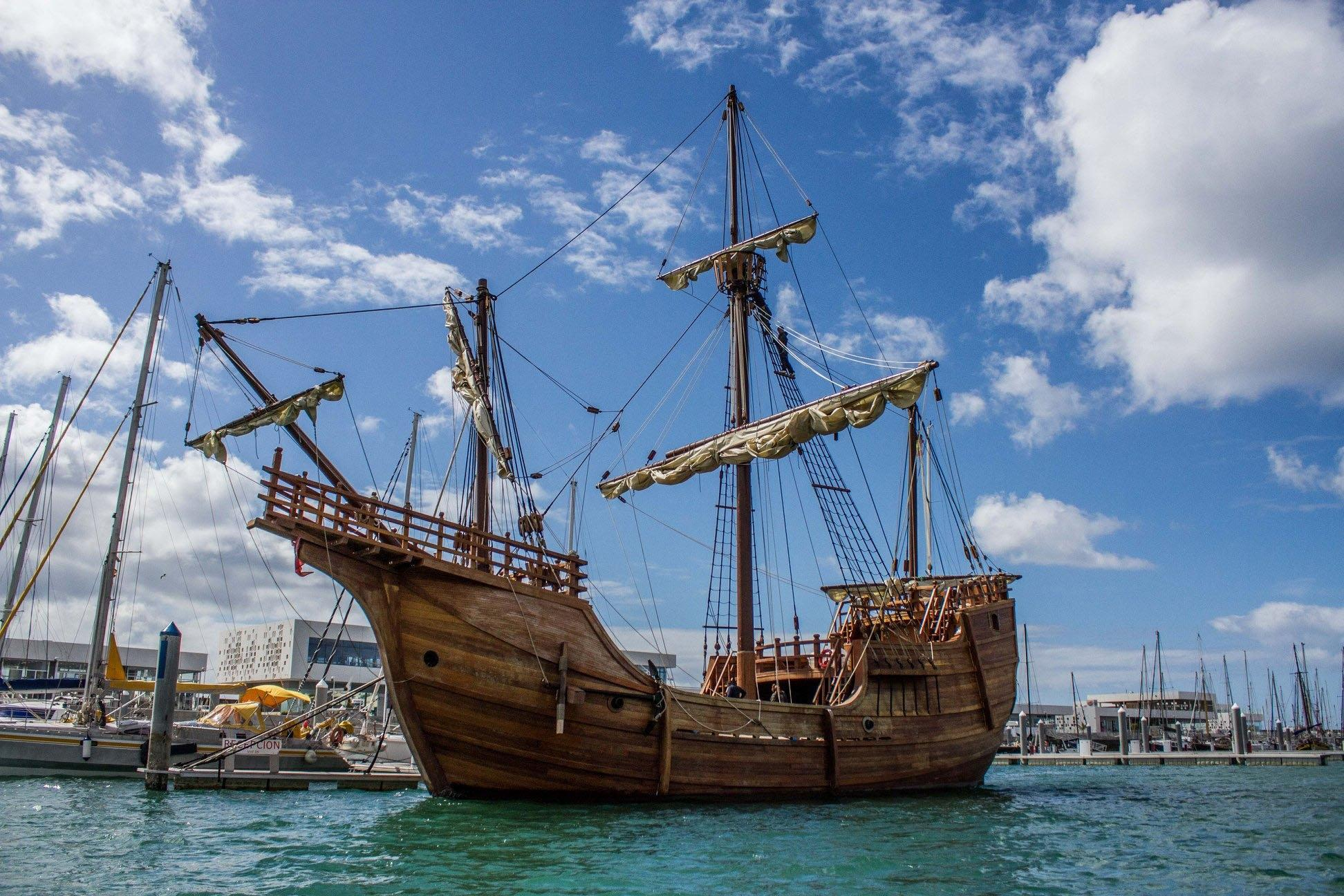 The tall ship arrives at the resort on August 11