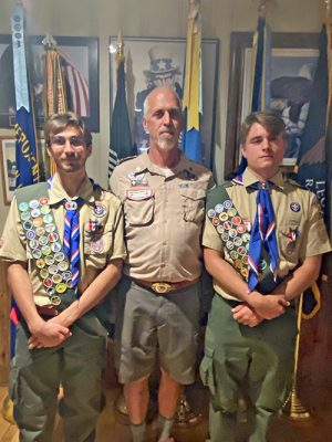 2 New Eagle Scouts Installed