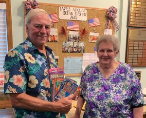 Elks' Ladies Auxiliary Awards Winning Lottery Ticket
