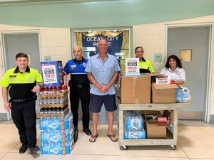 OC Surf Club Donate Food & Beverages To OCPD