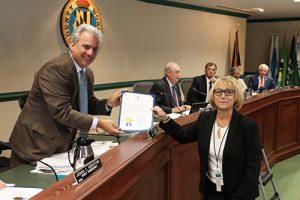 Commissioners Honor Retiree